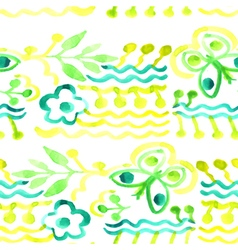 Watercolor pattern abstract floral background vector