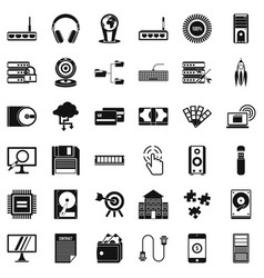 Web progress icons set simple style vector