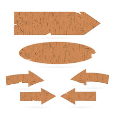 wooden signs arrows signboards vector image vector image