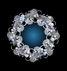 wreath silver vector image