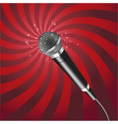 Microphone Rays 2 vector image