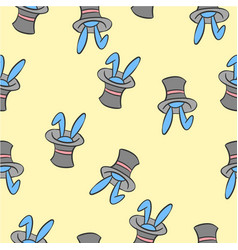 Pattern rabbit and hat collection vector