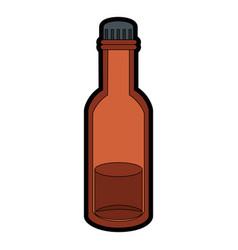 Bottle with liquid vector