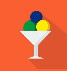 ice-cream cartoon flat icon brazil summer vector image