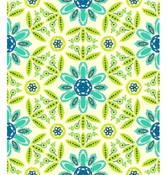 Floral ethnic spring pattern vector image