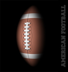 American football on black vector