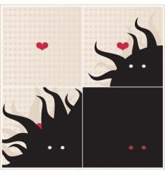 Love monster vector