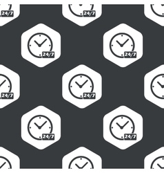 Black hexagon overnight daily pattern vector