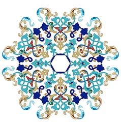 Antique ottoman turkish pattern design twenty one vector image