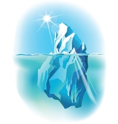 Iceberg iceberg under water and above water vector
