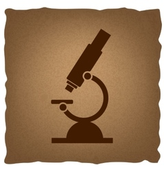 Microscope sign vintage effect vector