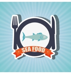 Sea food design vector