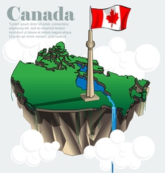 Canada country infographic map in 3d vector