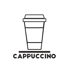 Black icon on white background cappuccino vector