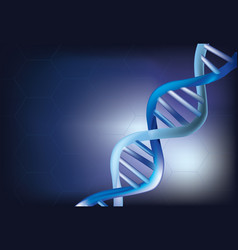Abstract dna chain vector
