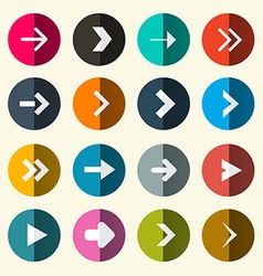 Arrows Set in Circle vector image vector image
