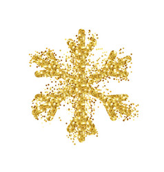 background with glowing snowflake vector image vector image
