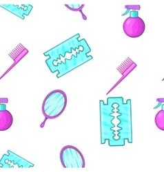 Barbershop tools pattern cartoon style vector