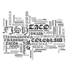 Best recipes baja fish tacos text word cloud vector