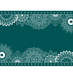Border with abstract flowers vector