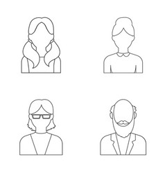 Boy a woman with glasses a grandfather with a vector