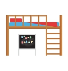 Bunk bed isolated vector image