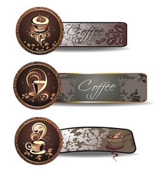 coffeetea banners vector image vector image