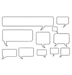 comic speech text bubbles set03 vector image