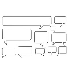 Comic speech text bubbles set03 vector
