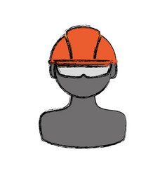 Construction worker profile vector