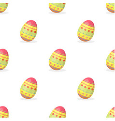 Dyed patterns egg for easter easter single icon vector