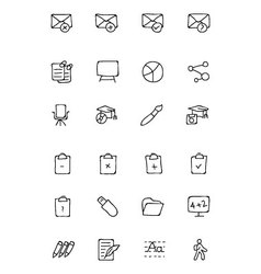 Education hand drawn doodle icons 8 vector