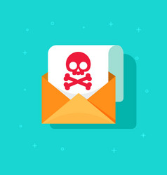 email spam icon idea scam e-mail message concept vector image vector image