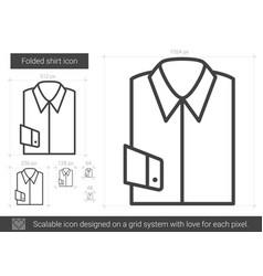 folded shirt line icon vector image