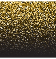 Golden luxury glitter falling particles festive vector