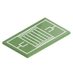 icon playground football in isometric vector image vector image