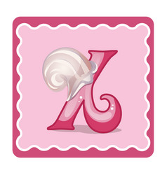 Letter x candies vector