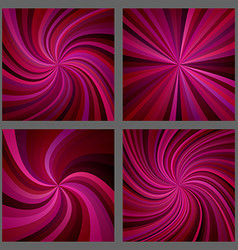 Maroon spiral and ray burst background design set vector image vector image