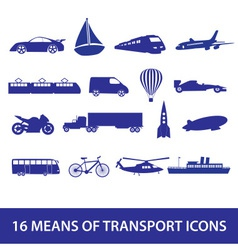 means of transport icon set eps10 vector image vector image