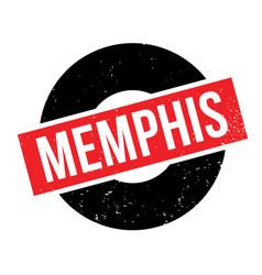 Memphis rubber stamp vector