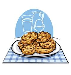 Oatmeals cookies vector