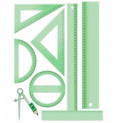 school measurement set vector image vector image