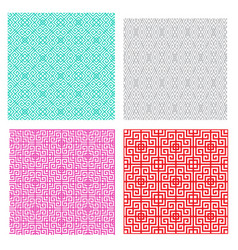 Seamless geometric line pattern in asian concept vector