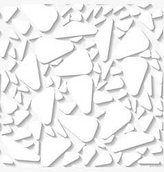 Seamless white origami pattern vector