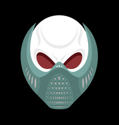 Skeleton head paintball helmet skull protective vector