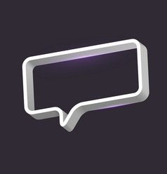 Speech bubble frame vector image
