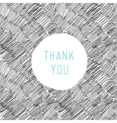thank you card hand drawn vector image