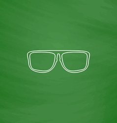 Glasses computer symbol vector