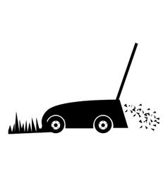 lawn mower icon image vector image