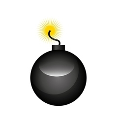 Boom alert isolated icon vector
